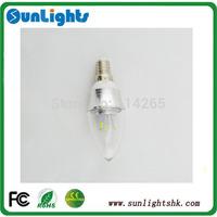 Dimmable E14 E27 3W LED Candle Light 5630 SMD led lamp 85-240V Bulb CE UL