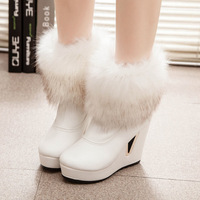 2014 Korean new winter snow boots wool mouth with thick soles slope with ultra- warm waterproof boots women's boots tx209
