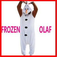 2014 Anime Cosplay Frozen Olaf Snowman Cos Pajamas Adult Women Men Unisex Onesie Party Costumes Halloween Dresses Olaf 4 size