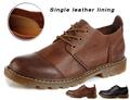 Warm Genuine Leather Men Boots Handmade Platform Autumn Brand Winter