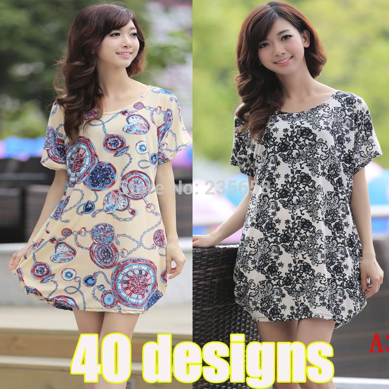 40 designs!!New 2015 summer dress plus size clothing casual dress women dress autumn and maternity dress cotton base skirt(China (Mainland))