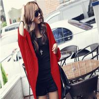 2014 Autumn New Women Batwing Knitting Long Cardigan Shawl Outwear Casual Loose Sweater Coat CX656791