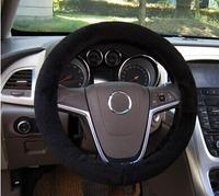 1pcs Black Premium Soft Short Plush Winter Car Steering Wheel Cover Vehicle Grips Skin