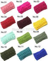 Wholesale 10 pcs/lot Knit braid Headband head wrap Handmade Knit Ear Warmers Cable Headband 17 Colors can choose