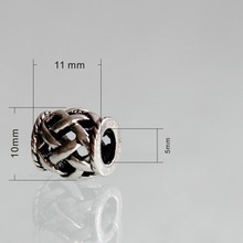 10pcs 10mm Silver Hollow Spacer Metal Beads Fit European Pandora Bracelets Metal Beads Jewelry Making Free