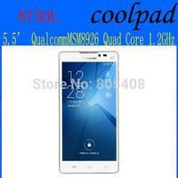 Original Coolpad 8730L  5.5 inch Mobile Phone Quacomm MSM8926 Quad Core 1GB RAM 8GB ROM 8MP 2500MAH 3G WCDMA GPS Free shipping