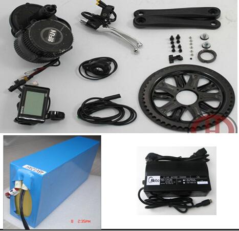 48V 750W BBS02 Mid crank drive motor ebike kit electric bicycle 8fun /bafang motor with 48V 10Ah 38120 LiFePO4 Battery(China (Mainland))
