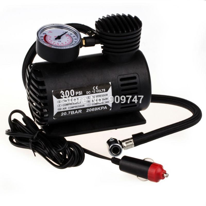 12V 300PSI Car Auto Electric Pump Air Compressor Portable Tire Inflator(China (Mainland))