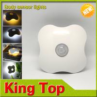 New design Four Leaf Clover lamps Motion Sensor Night light PIR Intelligent LED Human Body Motion Induction Lighting Lamps
