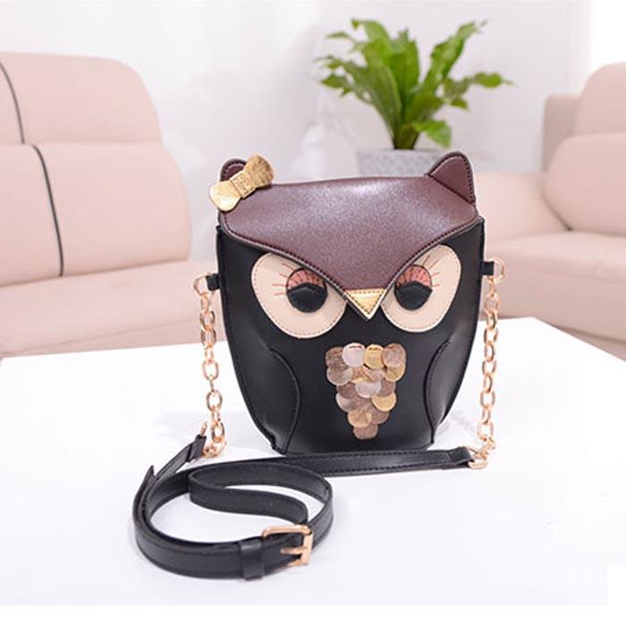 Excellent Quality Cute Owl Print Satchel Messenger Shoulder Bag Handbag Cross Body Purse Gofuly(China (Mainland))