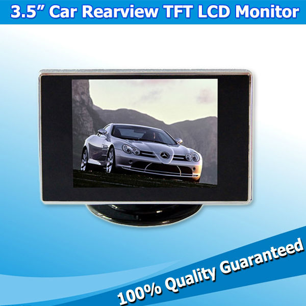 Rear View 3.5Inch Car LCD Monitors Auto Digital Screen TFT Color Monitor with Video/VCD/Camera Input(China (Mainland))