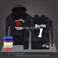 New Chris Bosh #1 Basketball Super Star Heat Hoodies Clothing Cotton Sweatshirt  Men HoodiesTraining Long-sleeved Tops