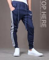 Hot new 2014 Autumn Brand Design Mens Pants Joggers Loose Fashion Casual Pants Men's Sports Pants Slim Pants Free Shipping