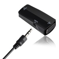 1080P HDMI to VGA Video Converter Box Adapter + AV Audio Cable For PC PS3 HD TV