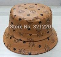 2015 New Arrived Korea MC/M Brand Leather Bucket Cap High Quality Hip-Hop Hat Drop Shipping