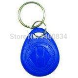 100Pcs/lot 125Khz RFID EM4100 ID Card Token Tags Key Keyfobs For Access Control Use Blue(China (Mainland))
