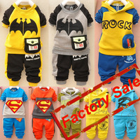 Factory Retail Hooded Velvet Sets Kid's Baby Boys Sets Children's Sets Autumn Winter Suits {iso-14-10-11-A2}