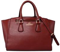 New 2014 Fashion Carmen Steffens Bolsas Femininas Women Leather Handbags Female Designer Tote Bags Brown Ladies Purse CS651