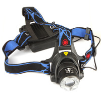 2000Lm Waterproof CREE XML T6 Zoom LED Headlight  Zoomable Adjust Focus For Bicycle Camping Hiking