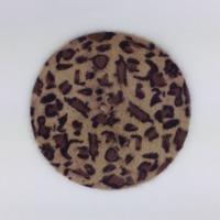 2015 New Handmade Fashion Warm Winter Women's Beret Leopard Hat women ski cap SC0413