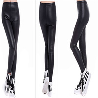 2014 High Quality lack Leather Boot Leggings Skinny PU Pants Women Winter Warm Trousers Velvet Pants Thicken BCX852006