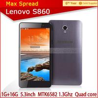 100% Original Lenovo Cell Phones Smartphone MTK6582 5.3'' IPS Android 4.2  Mobile phone 1GB RAM 16GB ROM 8.0MP 3G GPS