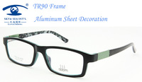 Eyewear Accessories Aluminium Sheet Decoration New Designer Glasses Women TR90 Frames oculos de grau femininos