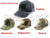 Military Fan Tactical Baseball Cap Velcro Sport Army Combat CS Wargame Python Camouflage Caps Visors Sun Hat Free Shipping