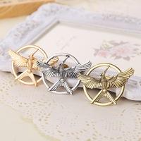 2014 New Arrival Movie Jewelry The Hunger Game 3 Bird Brooches Alloy Pins Couple Brooches
