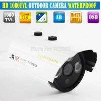 Free shipping 50M IR Night Vision 6mm HD 1/3 SONY CCD 1200 tvl CCTV Waterproof Security Outdoor Camera Long IR Range 1000TVL