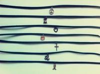 Itemship Women Necklace Handmade Punk Simple Japanese Harajuku Style Thin Models Leather Collars Women Necklace