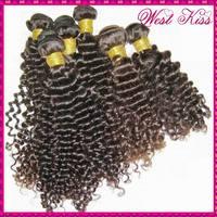 10pcs/lot 1KG wholesale Deep curly Peruvian Virgin human hair high quality Grade 6A Shiny shade brown fast shipping