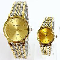 Men Watch Brand Luxury Fashion Popular Quartz Lovers Male Female Girl Unisex Wrist Bracelet Rose Gold Plated Clock