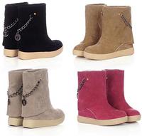 New Fashion Women Shoes Autumn Boots Martin Boots Medium-Leg Thick  Boots Snow Boots Single Winter Shoes Autumn Shoes XZ6052