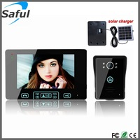 Free shipping cheap apartment wireless video door phone intercom system with solar charger