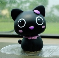 Free shipping  Spring head Cat shook his head decoration doll small car accessories auto upholstery supplies cartoon