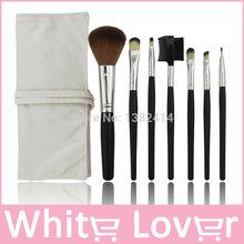 1set=7pcs Professional Cosmetic Facial Make up Brush Kit Wool Makeup Brushes Tools Set with Leather Case(China (Mainland))
