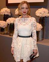 2014 New Vestido Slim fit Design White Crochet Sexy  Dress Women long sleeve lace dress