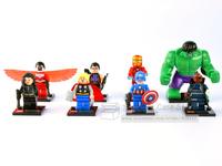 8pcs Super Heroes Avengers Minifigure Building Blocks Brick Toy Captain America NICK HULK Thor Iron Man Compatible With Lego