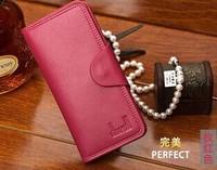 2014 Fashion Women Long Leather Wallet Credit Cards Holder Pocket Purse Men Wallet