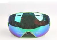 quality large vision double layer lenses anti-fog UV protecion Anti-dazzle snow goggle skiing eyewear,men women snow goggle