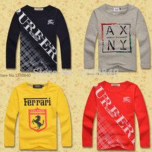 2014 winter boys t shirt long sleeve Fashion Brand grade cotton Children's Clothing free shipping kids boys clothes(China (Mainland))