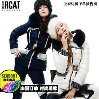 Hot!!2 Color,S-2XL,High Quality 2013 New Fashion Women Down Jacket Short Down Coat Set Women Winter Fur Down Coat+Pants (1 Sets)