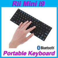 Rii Mini i9 K09 84 keys QWERTY Ultra Slim Bluetooth Wireless Keyboard for PC HDPC TV Laptop & Tablet Accessories free Shipping