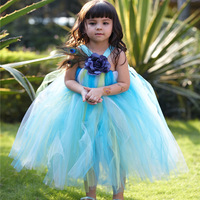 fast ship Fairy tale halloween Princess costume character christmas cosplay party gauze Tutu Flower  dresses for kids girls size