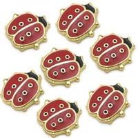 20pcs/lot Free Shipping Fashion Diy Enamel Gold Ladybug Floating Charm For Origami Owl Memory Living Locket