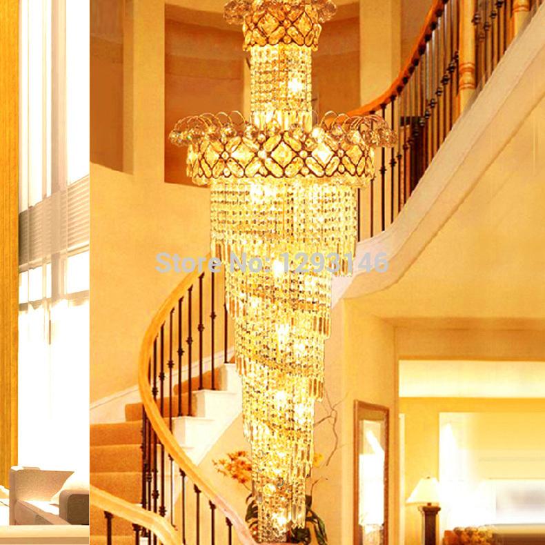 Candelabros de escalera compra lotes baratos de candelabros de escalera de - Grand lustre industriel ...