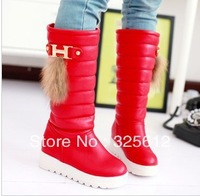 Winter boots snow boots female cotton boots high-leg platform waterproof thermal thickening fur boots