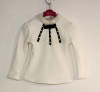 wholesale(5pcs/lot)-child girl lrs-018 winter wite base shirt