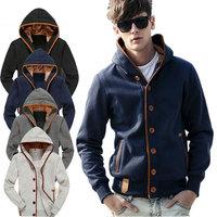 Wholesale Fleece Men Hoodies Fashion College Sweatshirts Brand Black Man Hoody M-XXL Tracksuits Sportswear Leisure Male Clothing